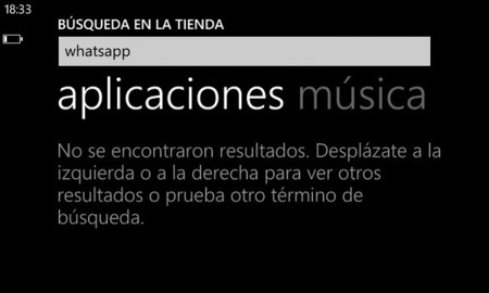 WhatsApp desaparece sin explicaciones de la Windows Phone Store