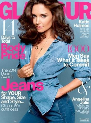 Mira cómo lo parte Katie Holmes para la portada de la revista Glamour