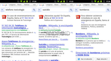 Google Search: Teléfonos de emergencias