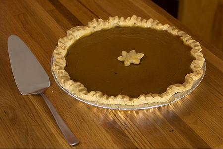 Tarta de calabaza típica de Acción de Gracias