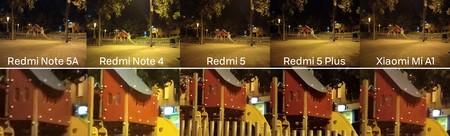 Comparativa Xiaomi Noche