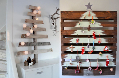 11 rboles para una navidad minimalista for Cosas artesanales para navidad
