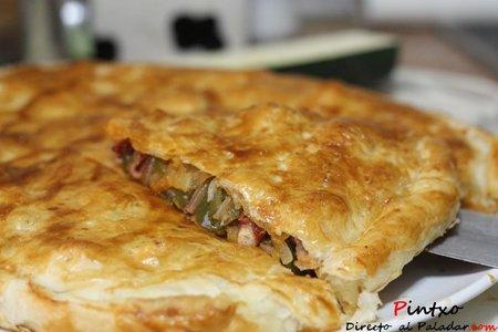 Receta de empanada de pulpo (de hojaldre)