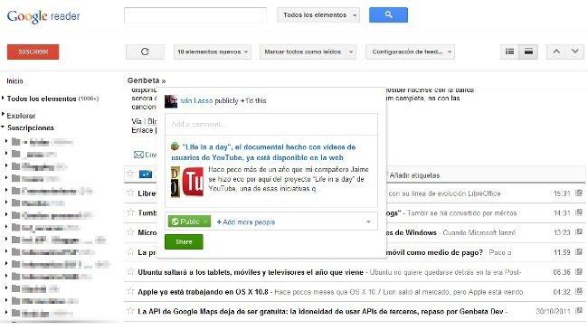 Ya está aquí el Google Reader renovado