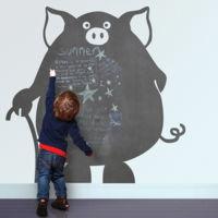 Divertidos vinilos de pizarra con formas para la habitación infantil