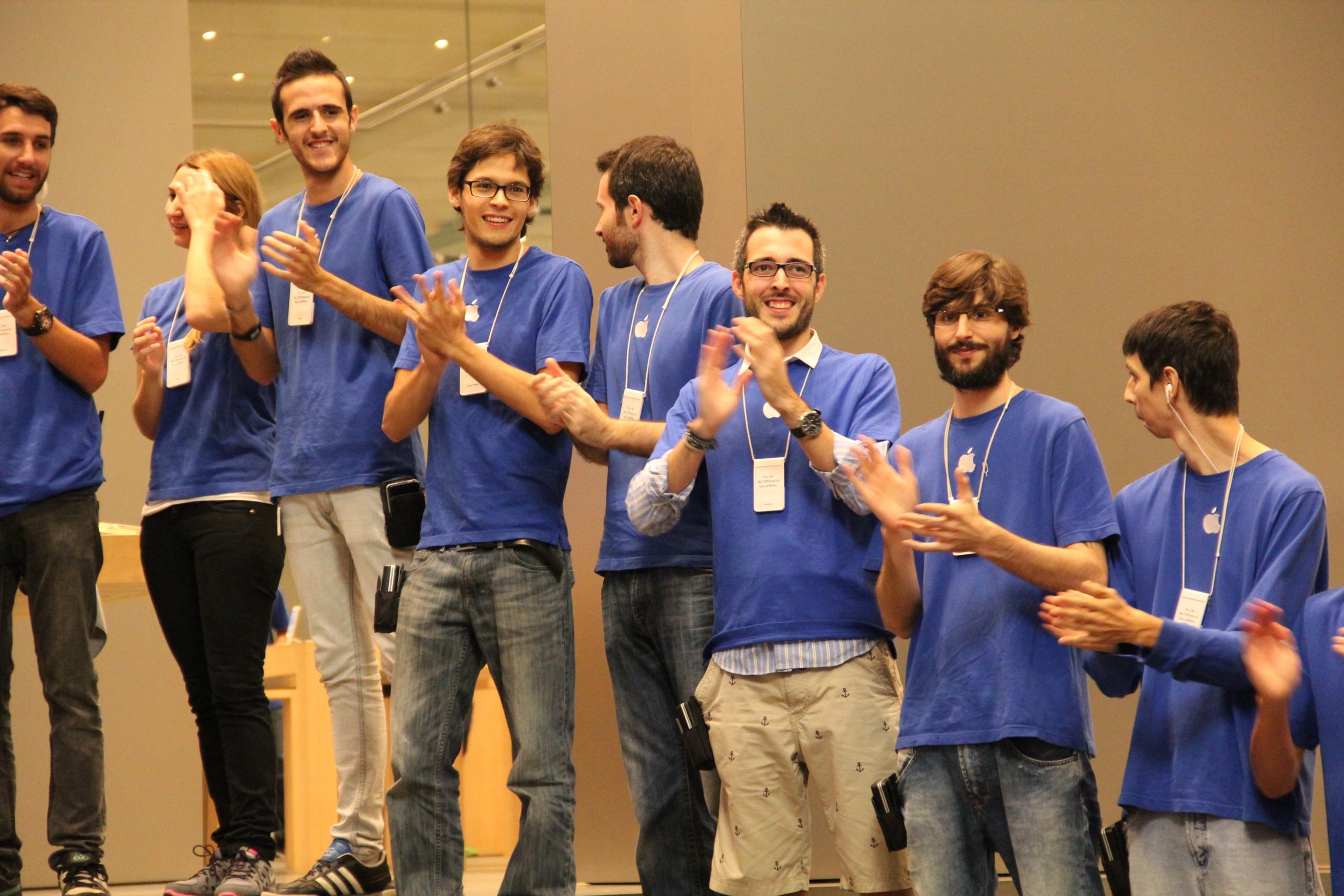 Lanzamiento de los iPhone 5s y 5c en Barcelona