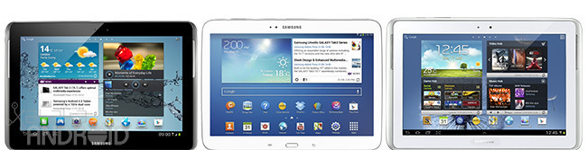 Galaxy Tabs, Notes 10.1