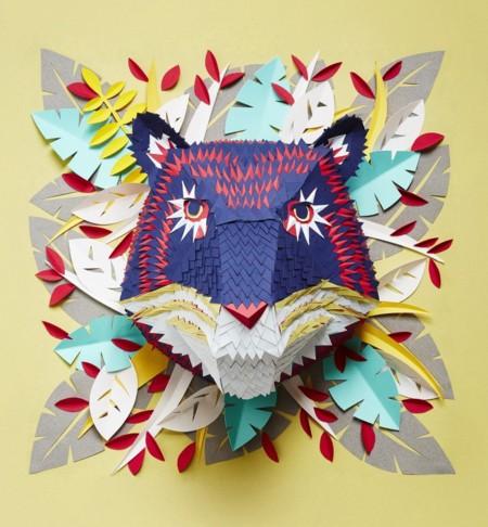 Las intrincadas máscaras de papel de colores del artista Mlle Hipolyte