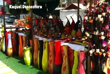 Compras decorativas en un Mercado Medieval