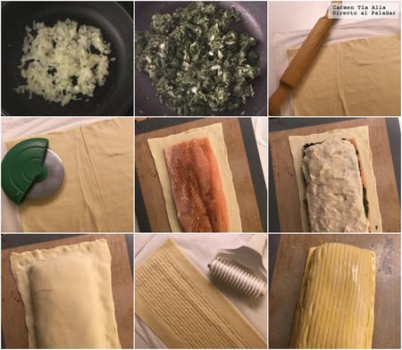 Paso A Paso Salmon En Croute