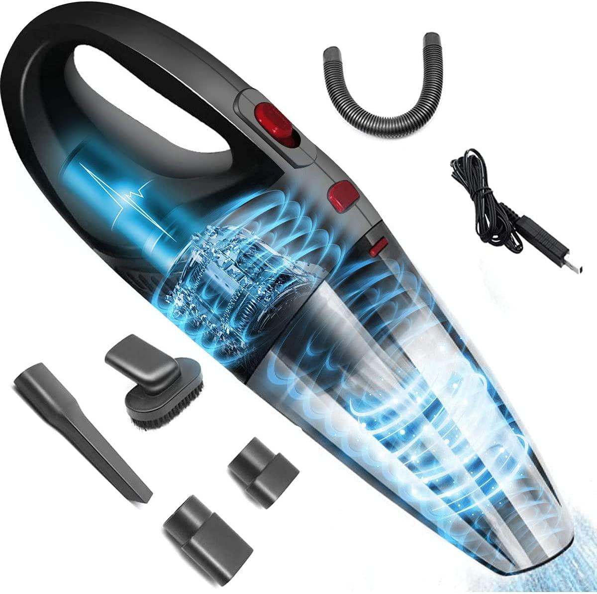 Aspiradora de mano con accesorios (precio utilizando el cupón de 50 pesos de descuento disponible)