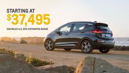 El Chevrolet Bolt tendrá un precio final en EEUU de 37.495 dólares
