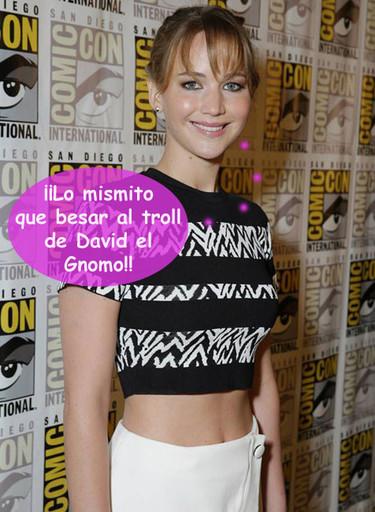 ¿Besar a Jennifer Lawrence? Si te gustan los moquetes...