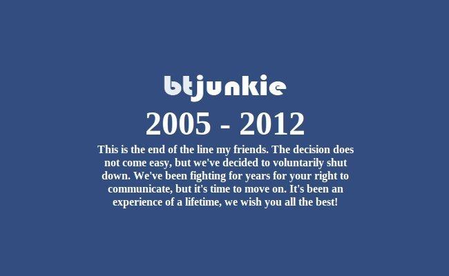 Despedida de BTjunkie