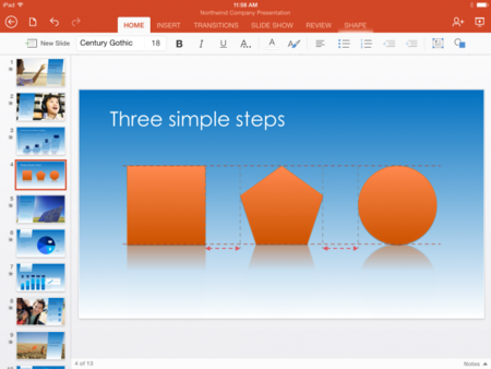 microsoft office ipad powerpoint guías