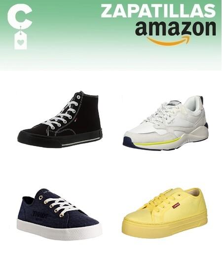 Chollos en tallas sueltas de zapatillas Lacoste, Tommy Hilfiger, Levi's o Pepe Jeans en Amazon