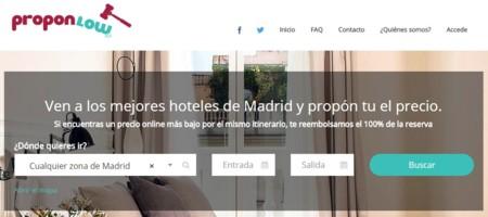 Proponlow, la web en la que tú pones el precio del hotel al que quieres ir