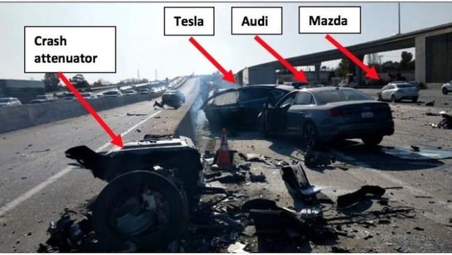 El reporte preliminar del accidente fatal del Tesla Model X señala una aceleración tres segundos antes del impacto a 114 km/h