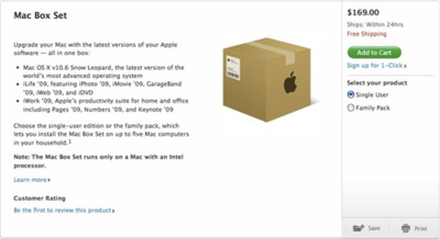 Snow Leopard Box Set filtrado por la propia web de Apple