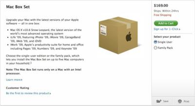 Snow Leopard Box Set filtrado por la propia web de Apple