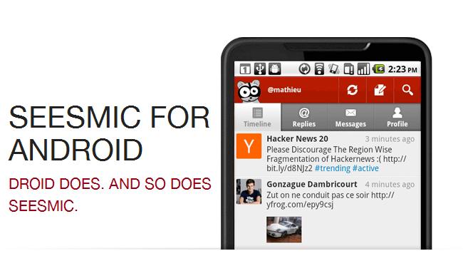 Seesmic for Android se actualiza y añade soporte para Facebook