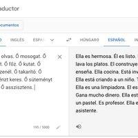 Cuando traducimos un idioma con pronombres sin género como el euskera o el húngaro, Google asume el masculino o femenino