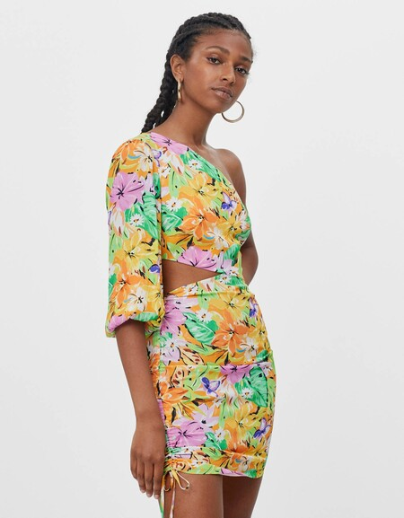 Bershka Rebajas 2021 Vestido Flores 07