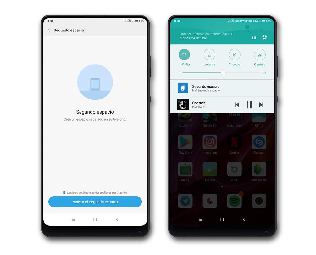 Xiaomi Mi Mix 2 Segundo Espacio