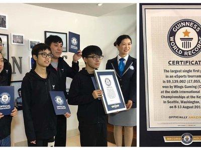 9 millones de dólares: este es el nuevo Récord Guinnes al premio más grande conseguido por un equipo de eSports