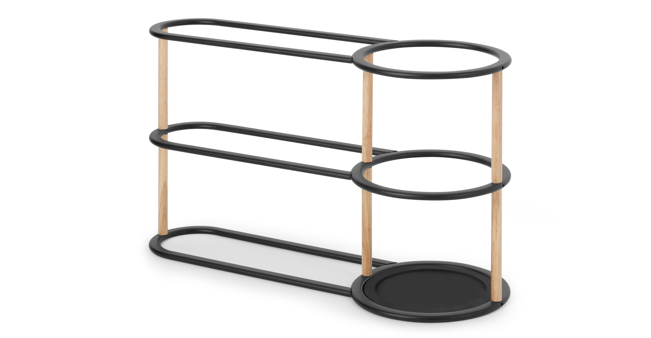 Huldra  Paragüero y zapatero de metal y madera Huldra, negro 69 €