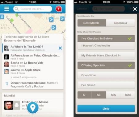 Foursquare mejora sus filtros para optimizar las búsquedas en sus aplicaciones de iOS y Android