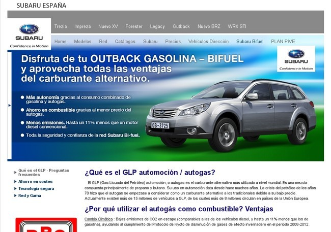 Subaru España y el GLP