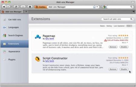Firefox 4: Administrador de extensiones