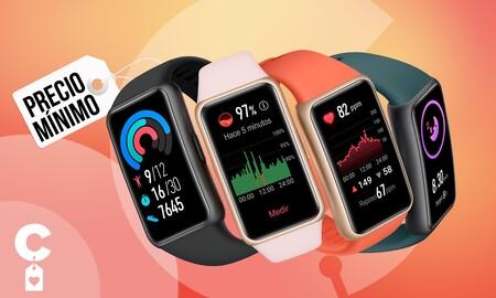 Esta elegante pulsera deportiva es todo un chollo ahora que está a precio mínimo en Amazon: Huawei Band 6 por sólo 39 euros