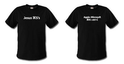 Camisetas escritas con atajos de teclado de Mac