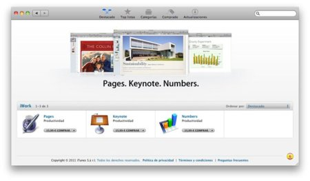 Mac App Store iWork Pages Keynote