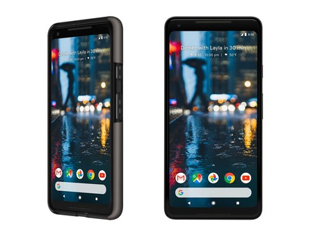 Google Pixel 2 XL con una funda