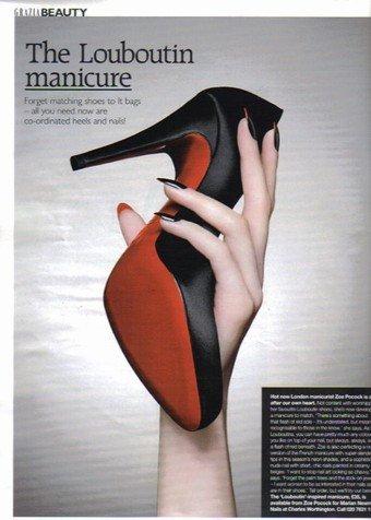 La manicura Louboutin
