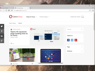 Opera 43 ya está disponible, con carga instantánea de páginas y optimización de velocidad en Windows