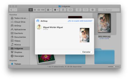 AirDrop OS X Yosemite