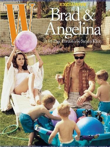 Angelina Jolie y Brad Pitt en la portada de noviembre de W