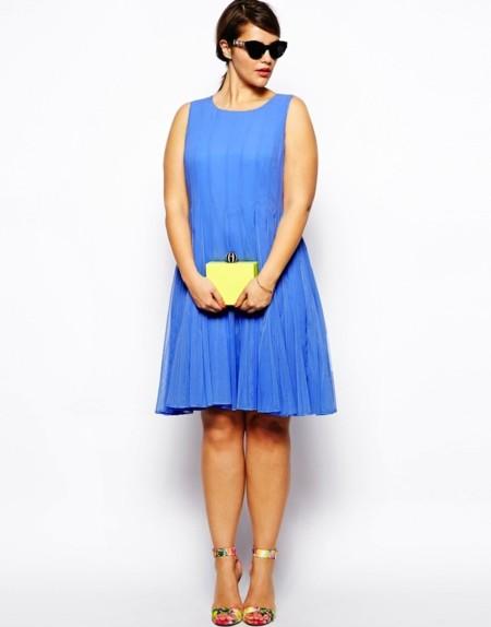 vestido azul cielo asos curve