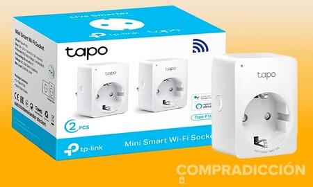 Dos casi a precio de uno: ahora en Amazon tienes el pack de dos enchufes inteligentes TP-Link Tapo P100 por sólo 17,99 euros