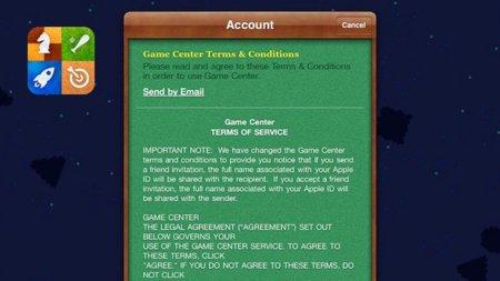 Apple modifica Game Center para utilizar los nombres reales en las invitaciones