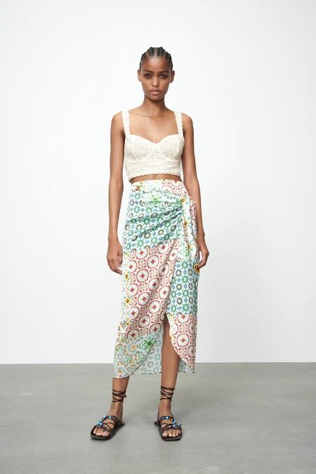 Zara Combinar Falda Pareo 04