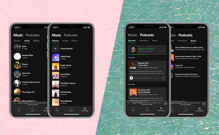 Nuevo diseño de Spotify: adiós al orden alfabético, más protagonismo a los podcasts y dónde encontrar las descargas