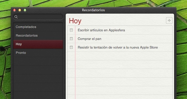 recordatorios apple mac os x mountain lion
