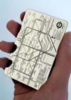 Tarjetas-Mapa metálicas para el metro
