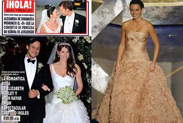 Liz Hurley y Penélope Cruz lucen vestidos similares