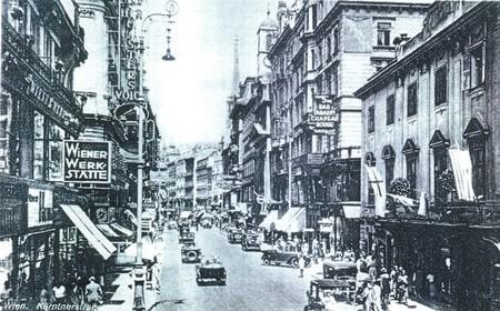 Tráfico en Viena en los años 30
